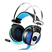 KOTION EACH GS500 Gaming Headsets Headphones with LED Light Microphone Noise Canceling for PS4 / PC / Mobile Phone - BLUE