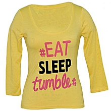 Yellow Printed Womens Top