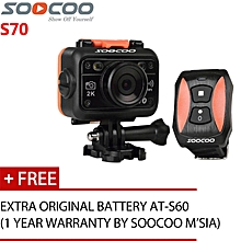 SOOCOO S70 2K Built-in Underwater Housing Anti Shake Voice Prompt Action Camera (Black) WWD