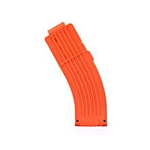 AK Model Curve Soft Bullet Clips For Nerf Toy Gun 15 Bullets Ammo Cartridge Dart Nerf Gun Clips - Orange