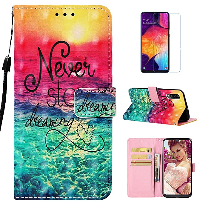 013cdc44f94e Galaxy A50 Case, mellonlu Luxury PU Leather Flip Folio Wallet Card Slots  Case Stand Feature & Magnetic Closure Protective Cover for Samsung Galaxy  A50