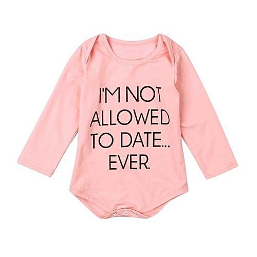 Buy Eissely Pink Newborn Baby Girl Boy Clothes Bodysuit Romper