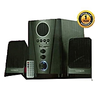 V006 2.1CH Multimedia Speaker System - Black with FM Radio