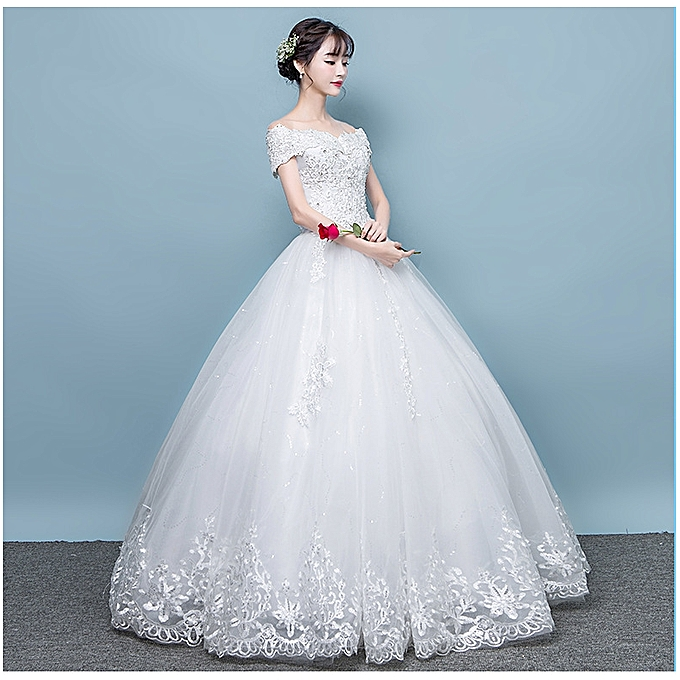 GeneAfrica Ball Gown Bridal Wedding Dresses With Lace