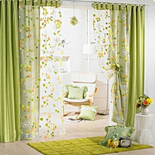 6Pcs Flower Floral Door Window Curtain Drape Panel Scarf Voile Room Divider Screen  NEW