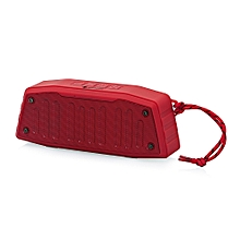 NR - 4019 Outdoor Wireless Bluetooth Stereo Speaker Portable Player-RED