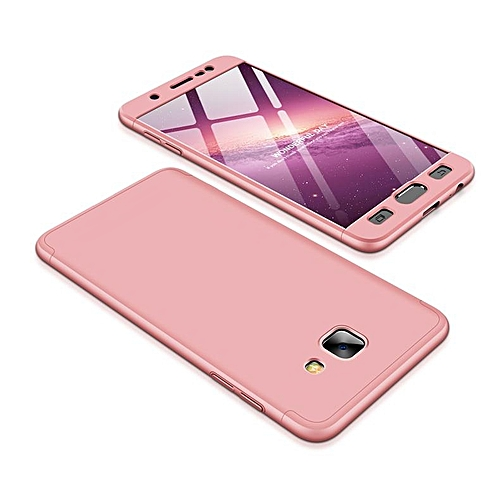 newest b33d2 5dd82 Case For Galaxy J7 Max,GKK 3 In1 Anti-Scratch Hard PC Matte 360 Full  Protection Back Cover Case For Samsung Galaxy J7 Max 111029 (Rose Gold)