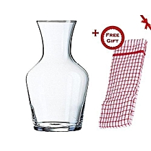 Wine Decanter - 1L Glass (+ Free Gift Hand Towel)