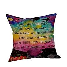 Halloween Pillow Cases  Linen Sofa Pumpkin Ghosts Cushion Cover Home Decor E
