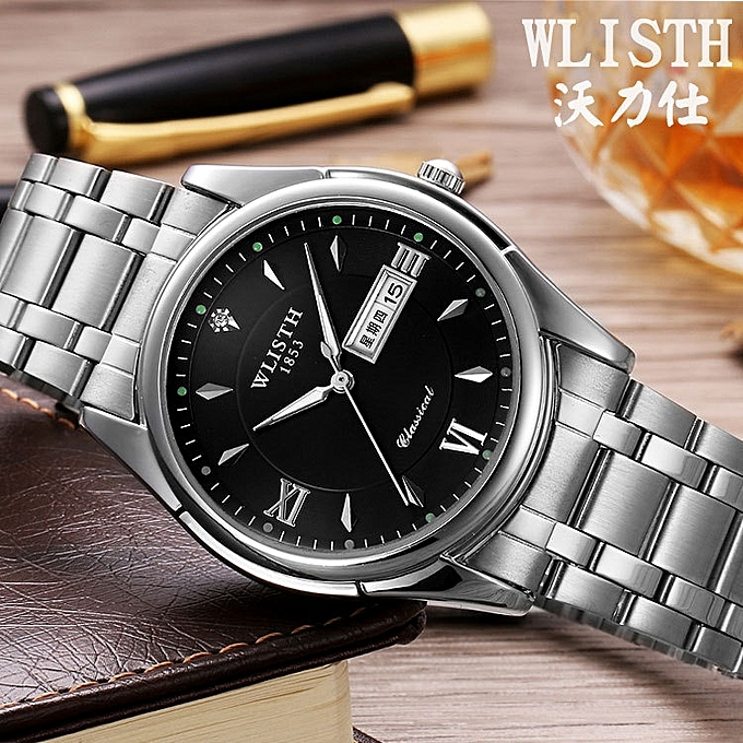 Watch man the stainless steel business quartz form waterproof and luminous  business career non- intensity of light watch