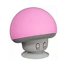 Bluetooth Speaker Mushroom Stereo Loudspeakers Waterproof Mini Subwoofer pink