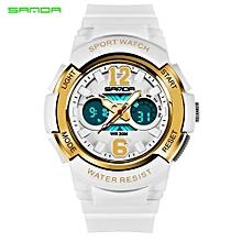 SANDA Casual Fashion Quartz Watches Mens Sports Digital Watch Kids Girl Shock Resistant Waterproof Clock Women Relogio Masculino 757
