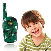 2Pcs Portable Children Two-Way Walkie Talkie 100-1000M Electronic Kids Toys Set-