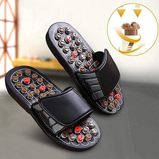 2c1f0ef7318 1 Pair Sandal Reflex Massage Slippers Acupuncture Foot Healthy Massager  Shoes