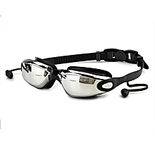 New Fog-proof and Waterproof Silica Gel Swimming Goggles with Earplugs