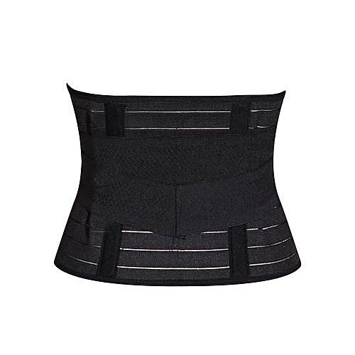 Slimming Tummy Control Belt Corset / Postpartum Girdle - Black