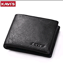 Men's Genuine Leather Wallet with Cards and Notes compartments