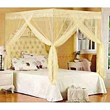 Mosquito Net with Metallic Stand - 4X6 - Cream