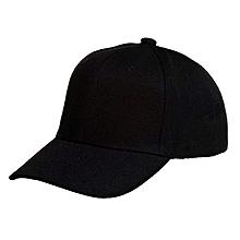 Tough quality black unisex baseball Cap