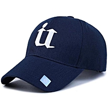 Sports Golf Leisure Hats U Letter Embroidery Sport Cap For Men And Women(Dark Blue)