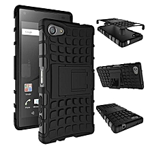 Mooncase Case For Sony Xperia Z5 Detachable 2 In 1 Shockproof Tough Rugged Prevent Slipping Dual-Layer Case Cover With Built-in Kickstand Black