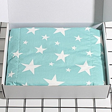 Baby baby Neonatal cotton wrap Spring, summer, light sleeping bag Baby package is held by cotton blanket#Blue Stars