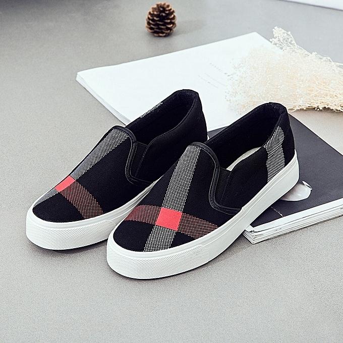 d756284782cbd3 New Stylish Women s Korean Fashion Casual Low-heeled Flat Canvas Shoes