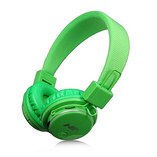 Generic Headphones, NIA Q8 851S Stereo Bluetooth Wireless Headphones Foldable Sport Headsets with Mic Support TF Card FM Radio(Green)