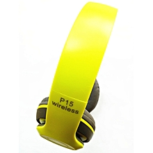 Wireless Bluetooth 4.2 Stereo Headphone Headset Earphone For Mobile Phones  - yellow green