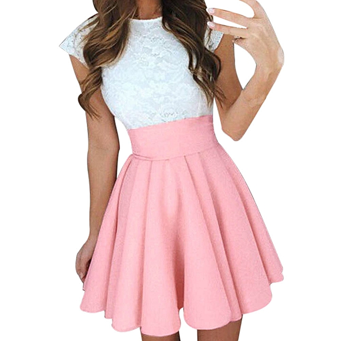 2f7d46a84a9c Eissely Womens Party Cocktail Mini Skirt Ladies Summer Skater Skirt ...