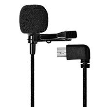 Short External Microphone Lavalier Omnidirectional for SJ6/SJ7/SJ360 Action Camera - Black