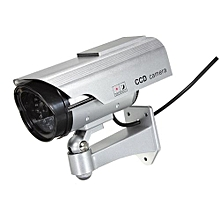 Solar Power Dummy Camera Surveillance Flash LED Light CCTV Security Waterproof