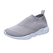 Women Outdoor Mesh Shoes Casual Slip On Comfortable Soles Running Sports Shoes(CN Size)