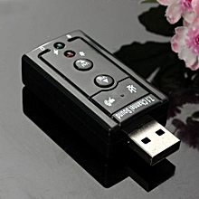 USB 2.0 External 7.1 Channel 3D Sound Card Speaker Mic Earphone Audio Adapter