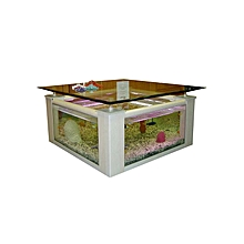 Coffee Table  Aquarium with Detached Base - White Pillars