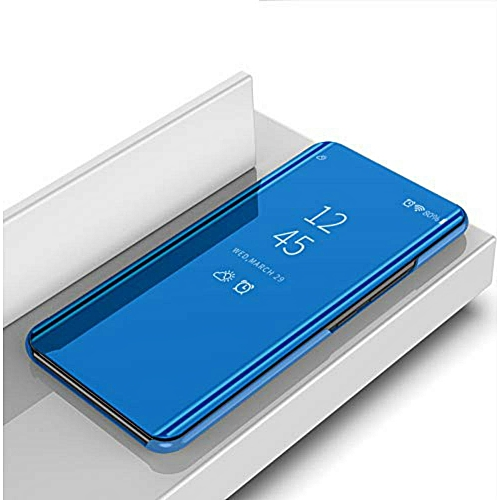 OPPO F9 Case,DugeCase Clear View Standing Case With Mirror Plating Flip Case For OPPO F9 102500 c-6 (Color:Main Picture)