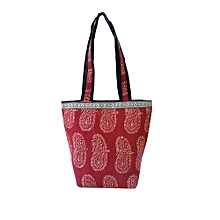 Kalamkari Shoulder Bag - Rust