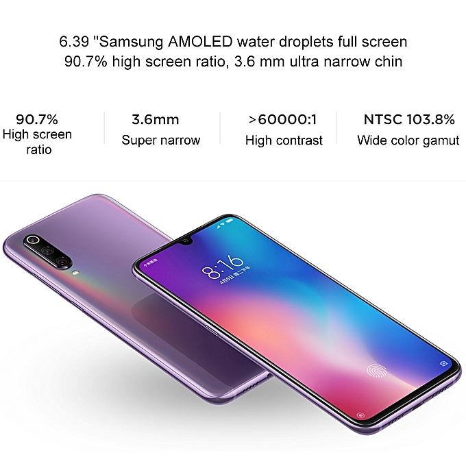 (Xiaomi) 9, 6GB+128GB, 6 39 Inch Water-drop Screen MIUI 10, 48MP Triple  Rear Cameras, Global Official Version - Blue