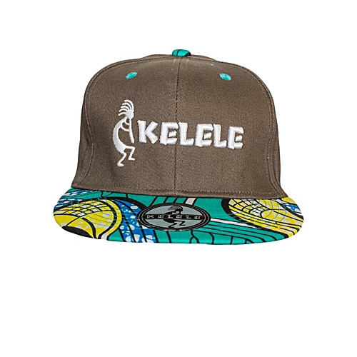 Buy KELELE Brown And Cyan Snapback Hat With Kelele Colors ...