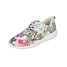 Casual Active Shoes - Multicolour Rose Flower
