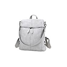 singedan Teenage Girls School Bags Fashion Vintage Solid Shoulder Bag -Gray