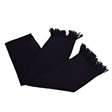 plain scarfs -Black