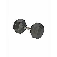 IR9022b - Rubber Hex Dumbbell - 37.5kg
