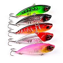 "5PC VIB Fishing Lure 6.5cm-2.56""/11g-0.39oz Hard Bass Bait 6#Hook Fishing Tackle"