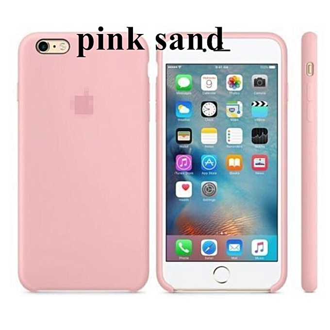 newest 3a96e 91b94 Silicone Protect Back Cover Case For Apple iPhone 6 Plus / 6s Plus (Pink  Sand) XIAO-Y