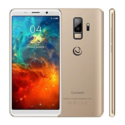Gooweel S9 Smartphone 5.72-Inch 18:9 Full Screen Quad Core Android 5.1,5MP+2MP Camera 2500mAh 3G Mobile Phone GPS Bluetooth - Gold