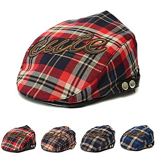fb48cea0232 Generic Baby Children Fashion Cute Cap Summer Berets Baby Hat Boy Caps For 2 -4 years Child WM-009-Red