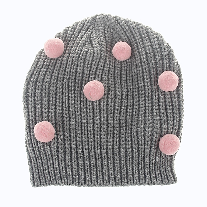 1773825c498 Toddler Infant Kids Baby Girls Boys Knitting Wool Crochet Hat Earflap Hat  Cap-Gray ...