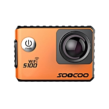 SOOCOO S100 Waterproof Antishake 4K Wifi Built-in Gyro Action Sport Camera with GPS Extension  Orange