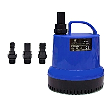 Home-Submersible Pump Fountain Aquarium Fish Tank Water With 3C Power Cord blue & black
